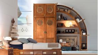 Old navy style caroti original furniture for Modelli 3d arredamento