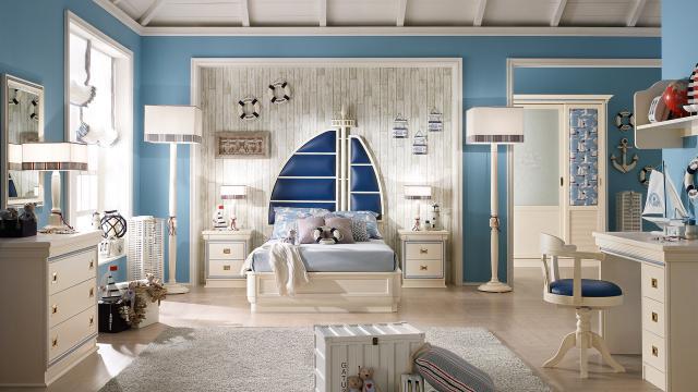 Camerette in stile vecchia marina caroti - Camera da letto mare ...