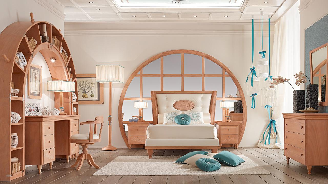 Nautical style bedroom proposal 849 caroti - Camera da letto stile mare ...